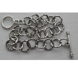 .999 A. Silver Plated 8 inch Patera Medium Twisted Link Chain